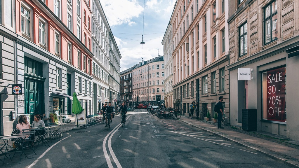 Shop, eat and drink in Elmegade in Nørrebro, Copenhagen