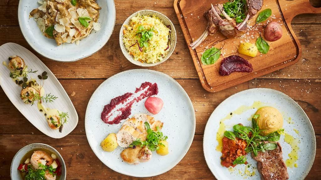 Food menu at restaurant RizRaz in Copenhagen