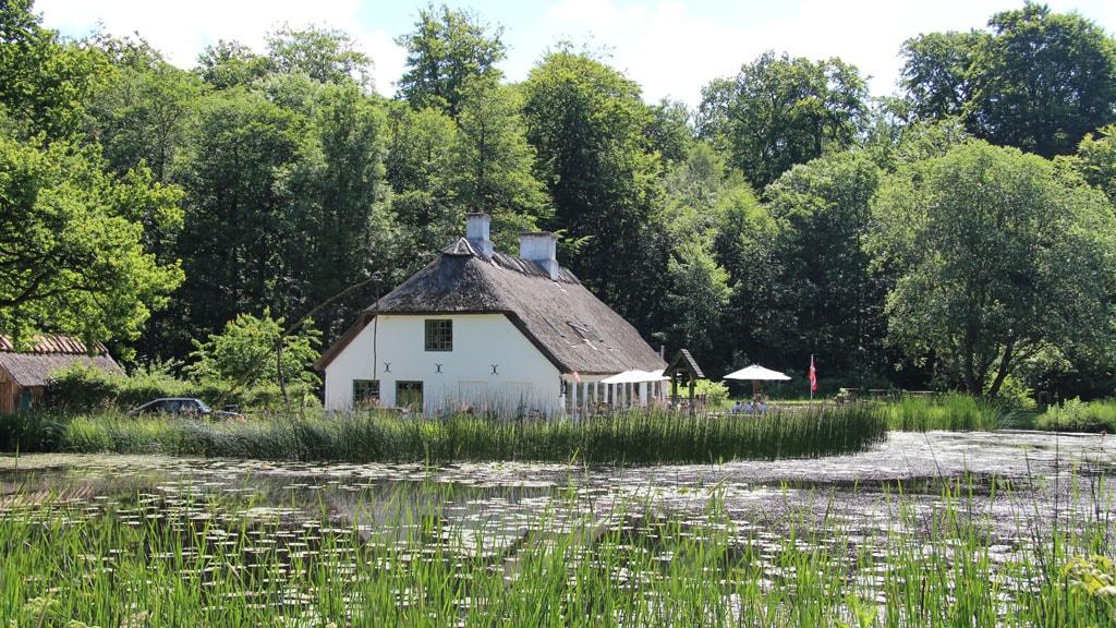 Hammermøllen ved skovsø i Teglstrup Hegn