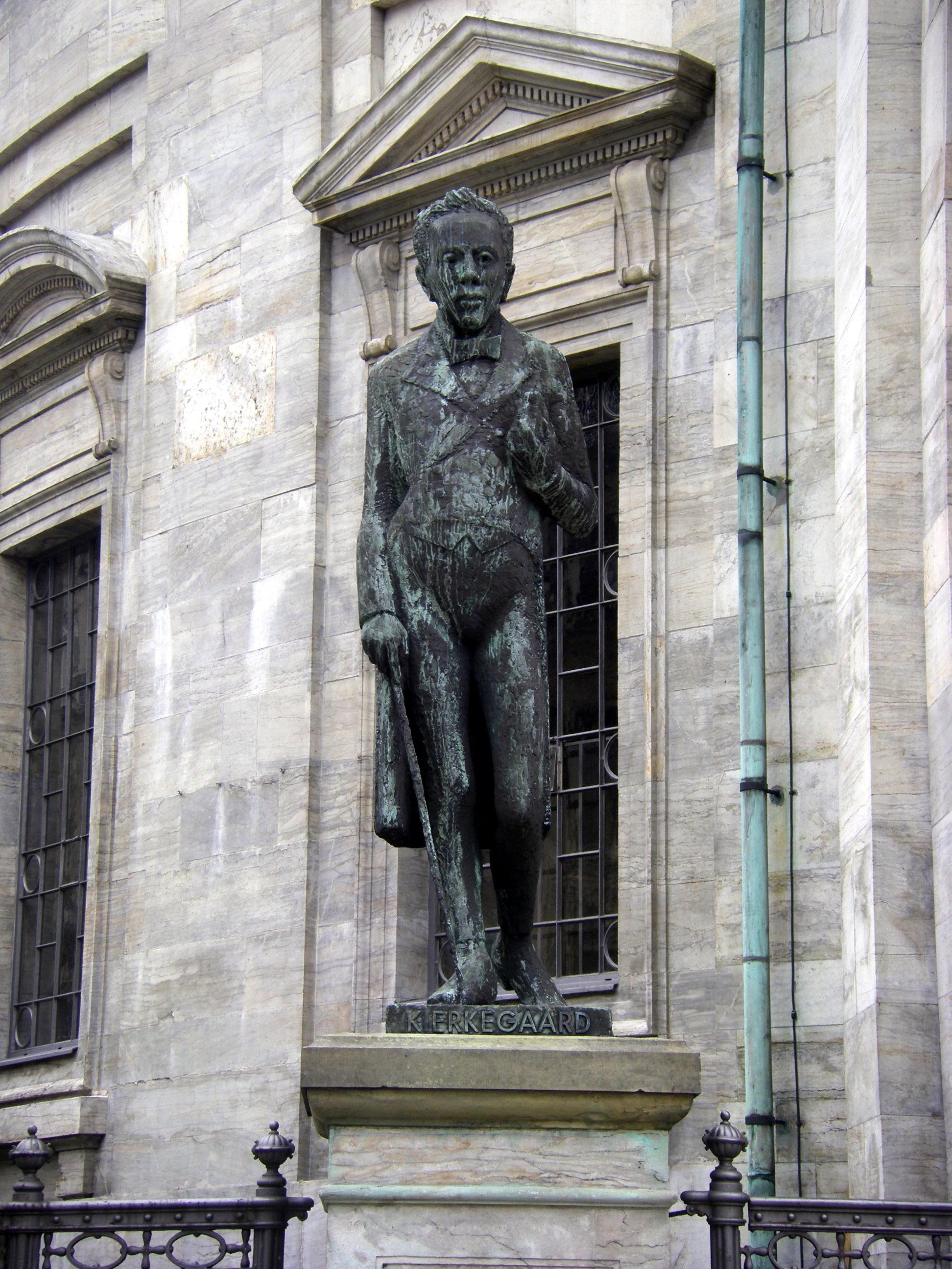 S 248 Ren Kierkegaard Statue By The Marble Church