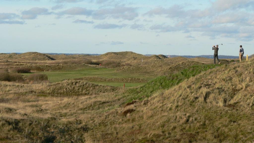 Golfspillere på Fanø