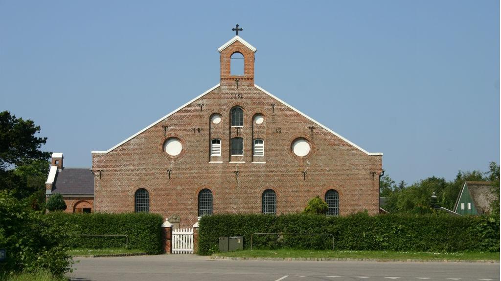 Facaden på Sønderho Kirke på Fanø