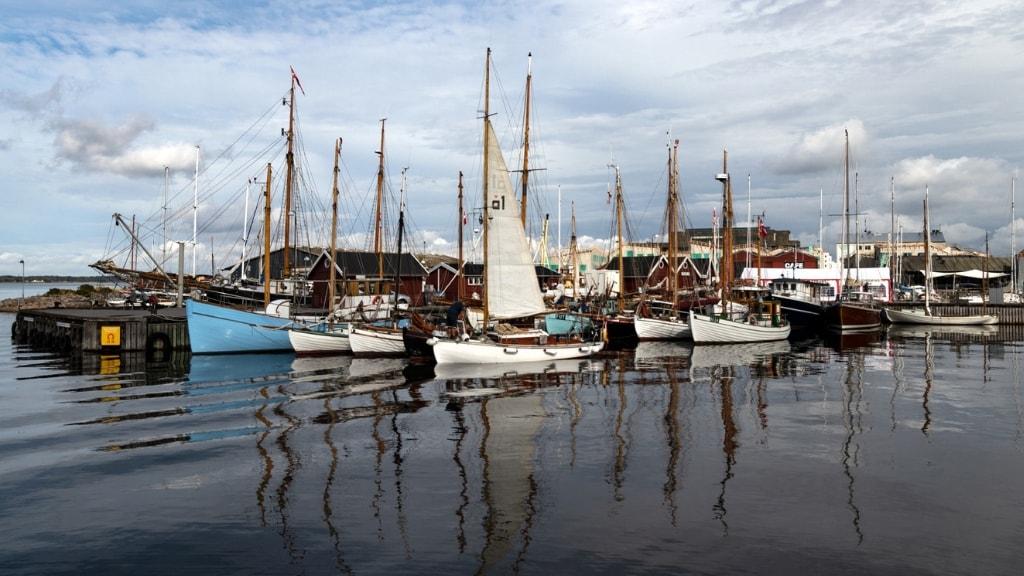 Træskibe i Holbæk havn | Foto: Børge Pedersen