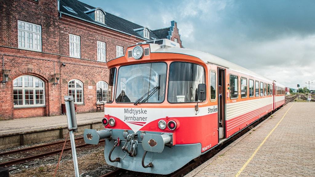 VLTJ - Midtjyske Jernbaner - tog - Lemvig Banegård