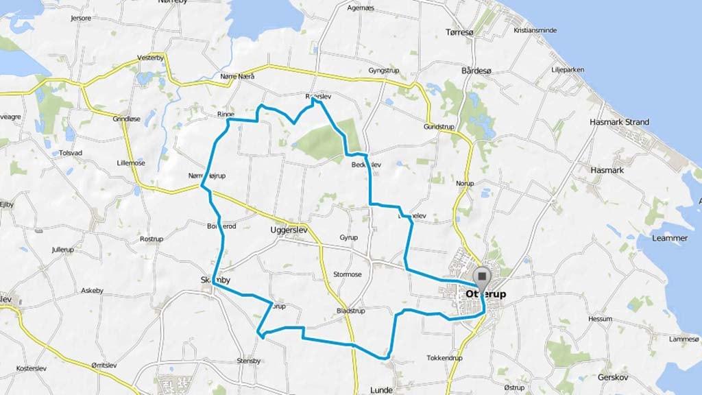 Cykelkort: Glavendrup-Ruten