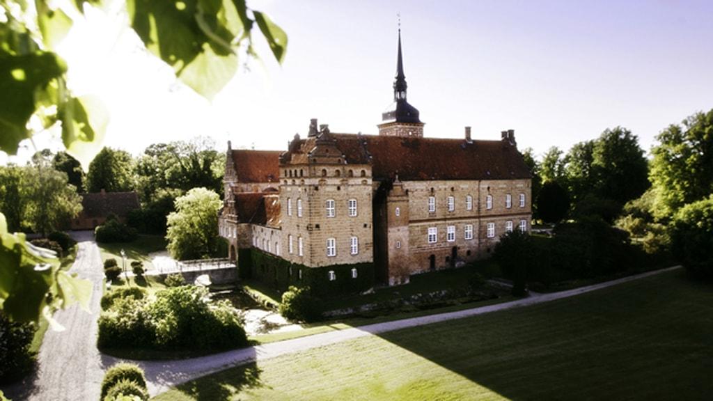 Holckenhavn Slot Nyborg luftfoto 1