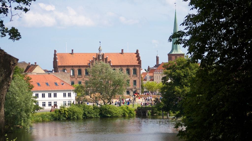 Nyborg Fæstning Voldgrav Voldanlæg Slotssøen Rådhus