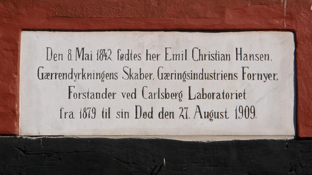 Mindeplade over Emil Christian Hansen