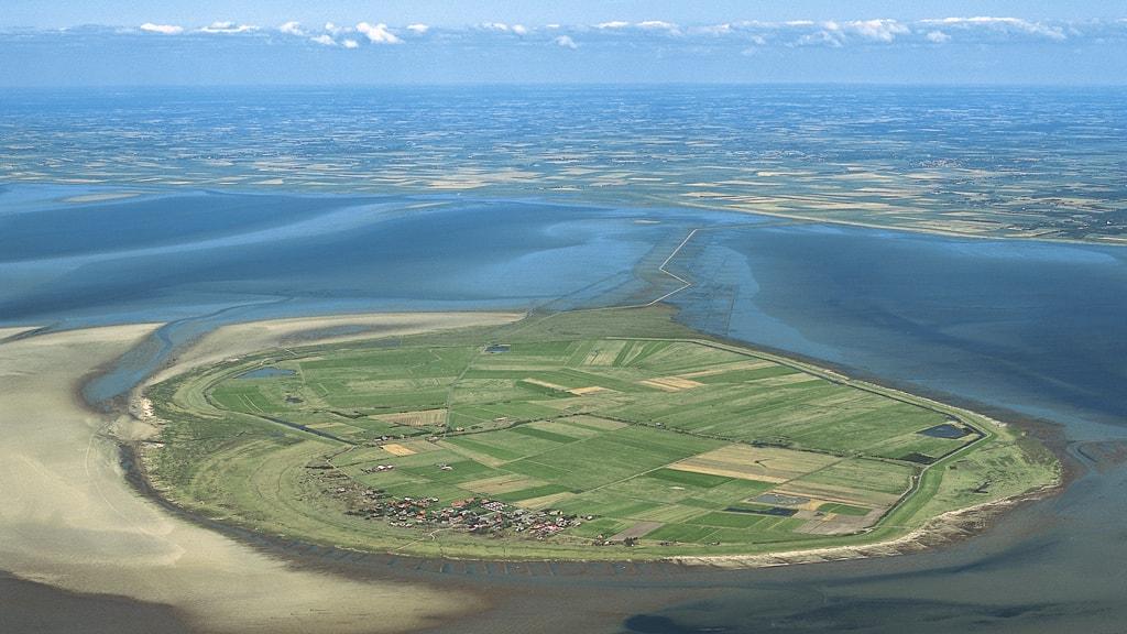 Luftfoto af Mandø