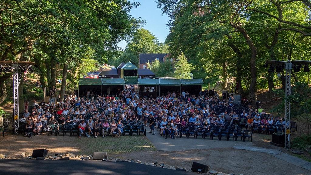 Thorning Friluftsspil scenen og publikum