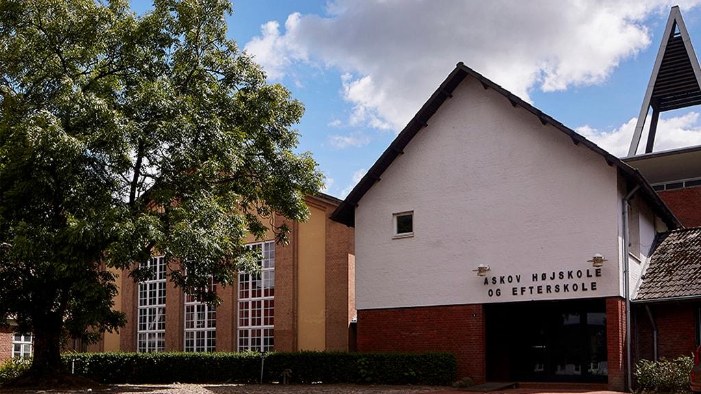 Hovedindgangen til Askov Højskole