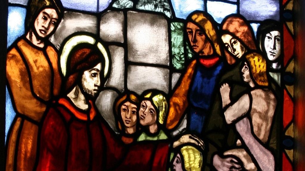 Glasmosaik i Holsted Kirke