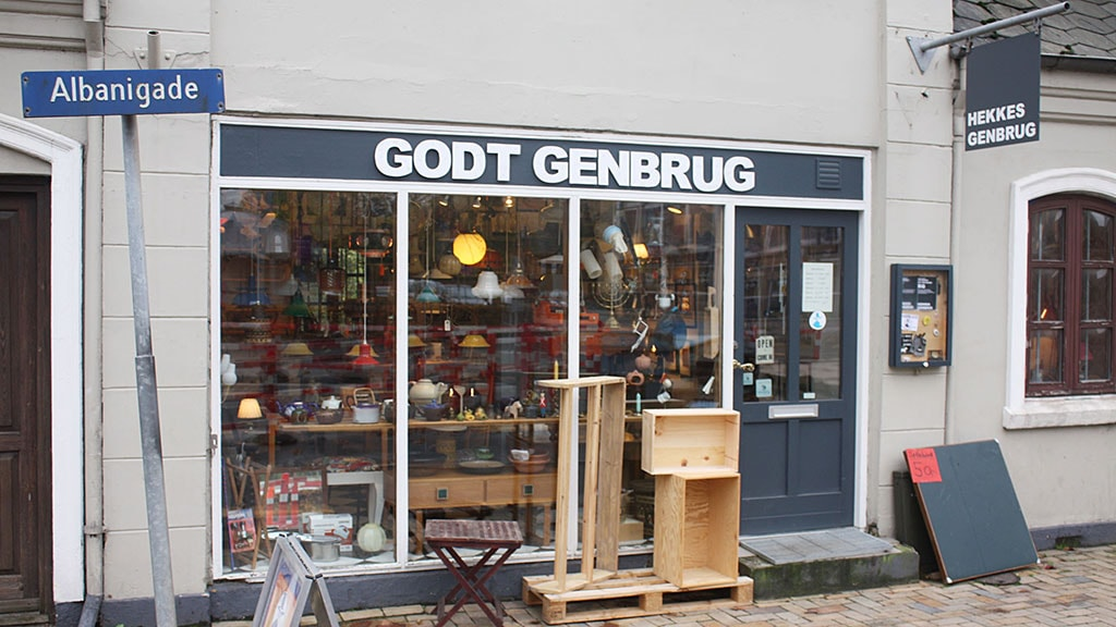Hekkes-Genbrug i Albanigade i Odense