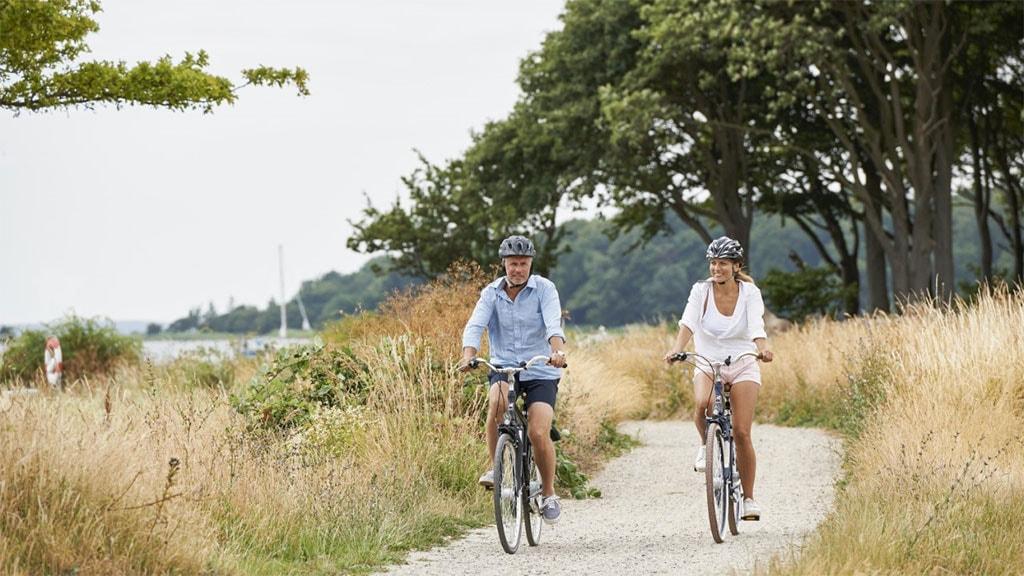 Par på cykelferie