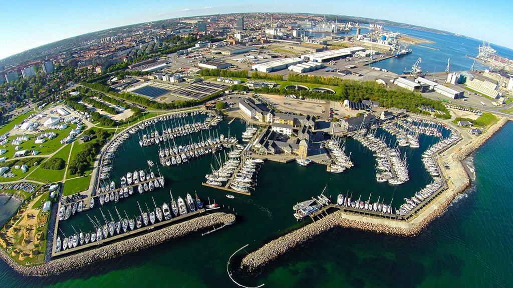 Marselisborg Lystbådehavn set fra oven