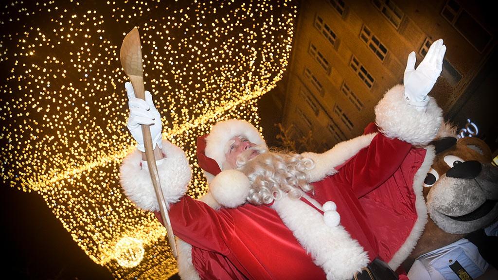 Juleparade i Aarhus med julemand