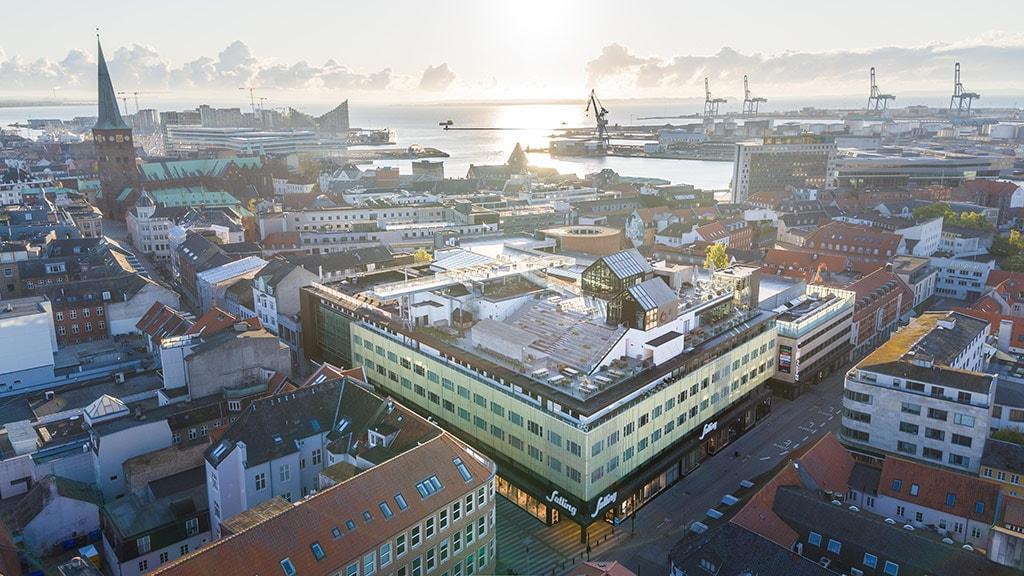 Luftfoto over Salling Aarhus